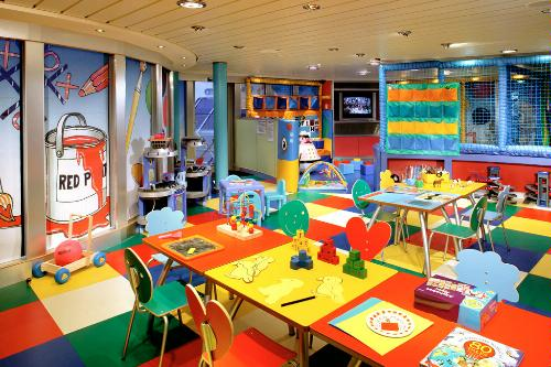 The Play Zone for kids on Cunard's QM2.