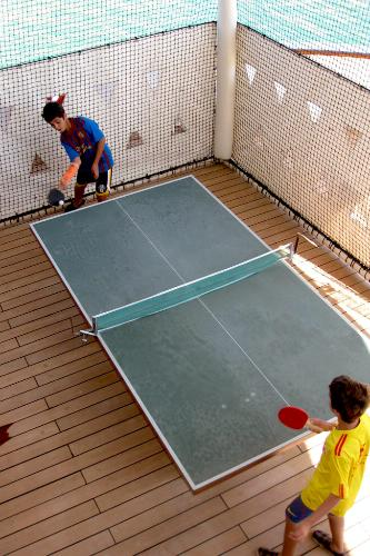 Ping pong on board the Crystal Serenity.