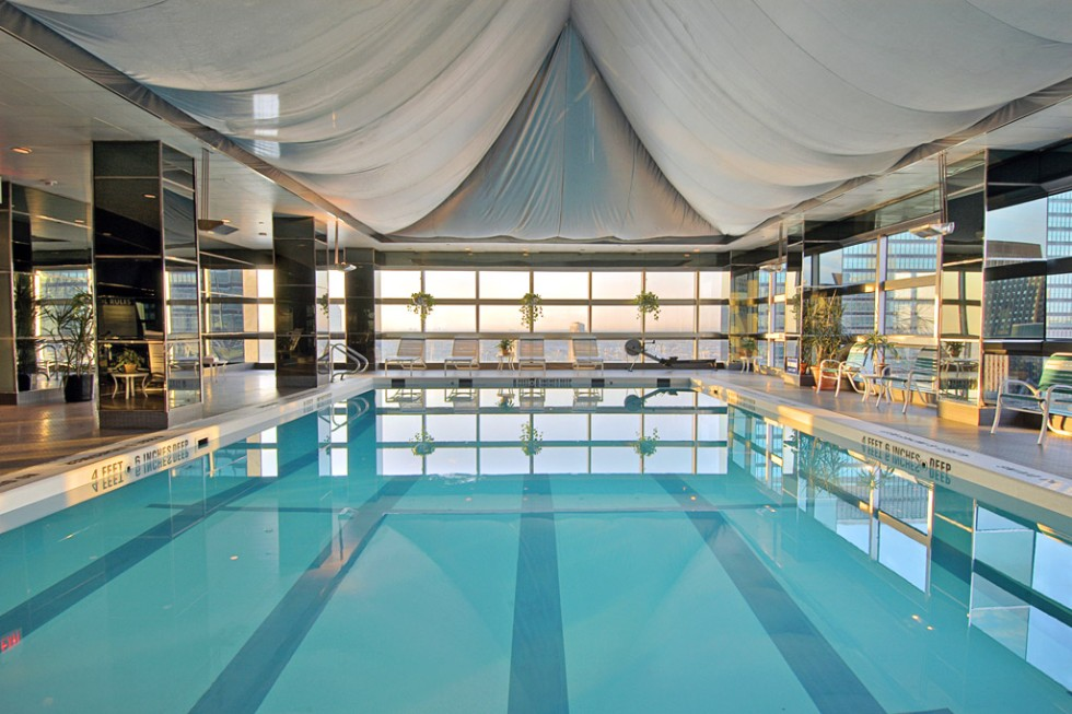 The pool at the Millennium Hotel UN Plaza Hotel, New York City.