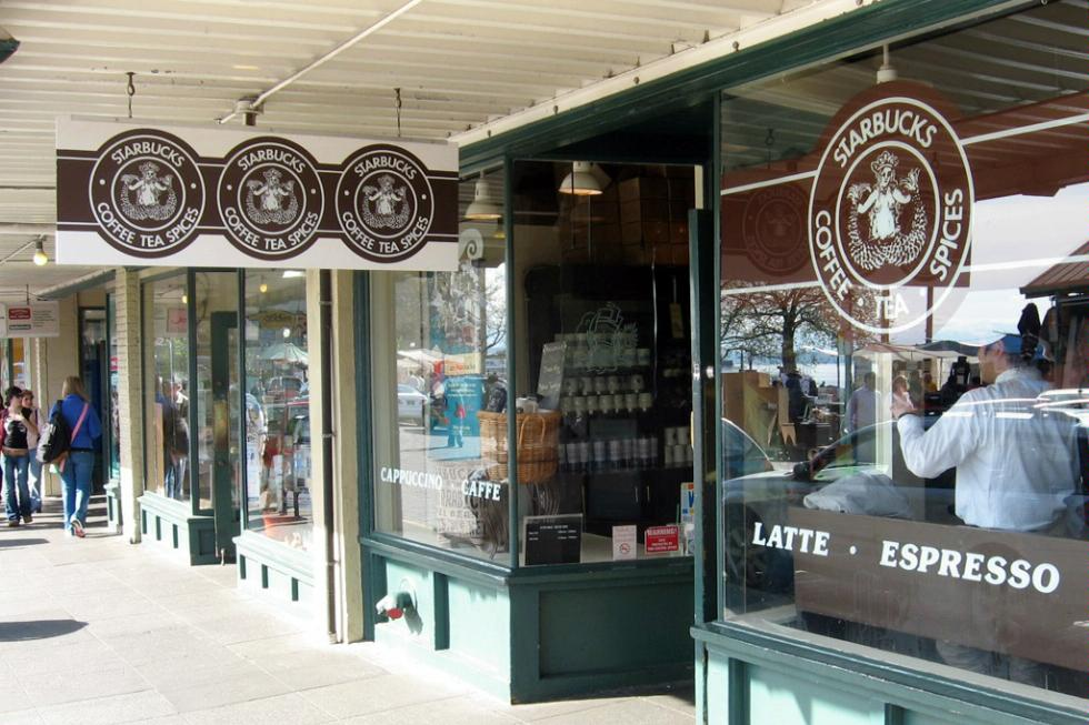 The original Starbucks at Pike Place Market in Seattle
