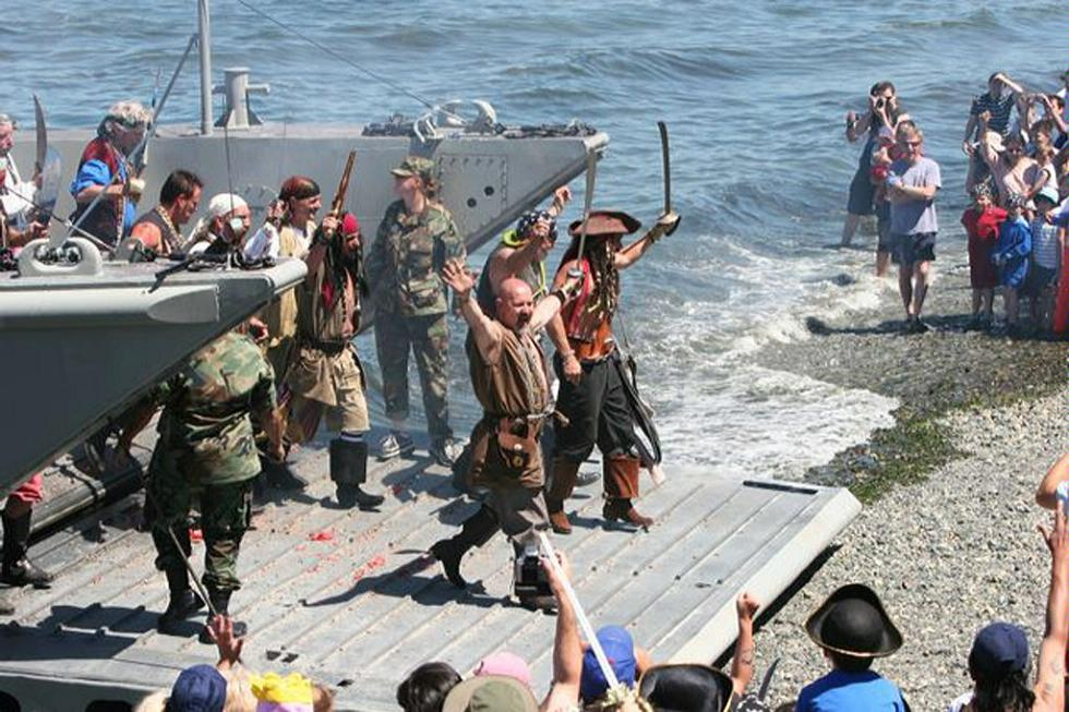 The Landing of the Pirates at Alki Beach in Seattle