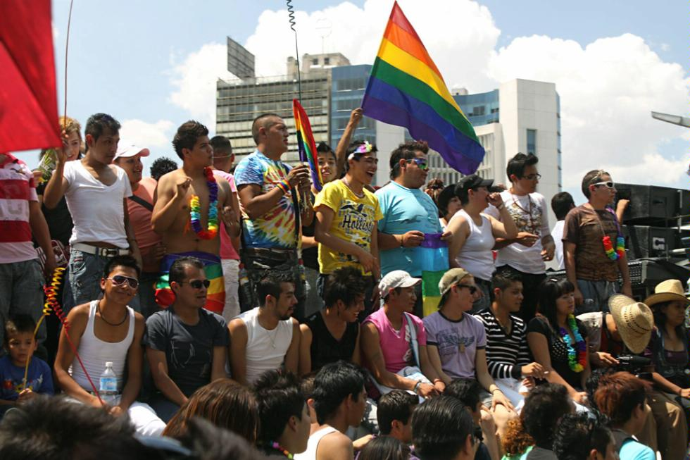 The 2010 Gay pride parade in Mexico City, just three months after same-sex marriage was legalized in the state.