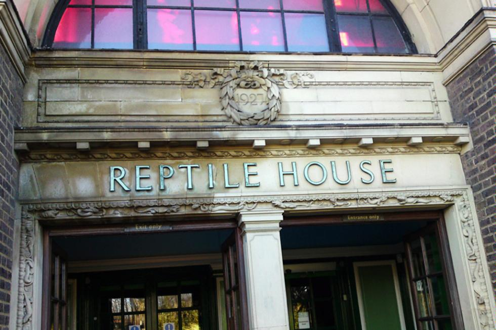 The Reptile House at the London Zoo in London, England.