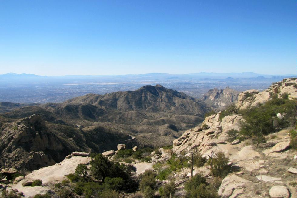 Mt Lemmon looking south to Tucson, Arizona.