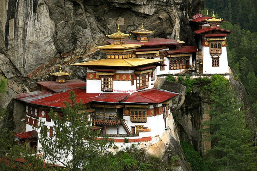 The Tiger's Nest Monastery near Paro, Bhutan.