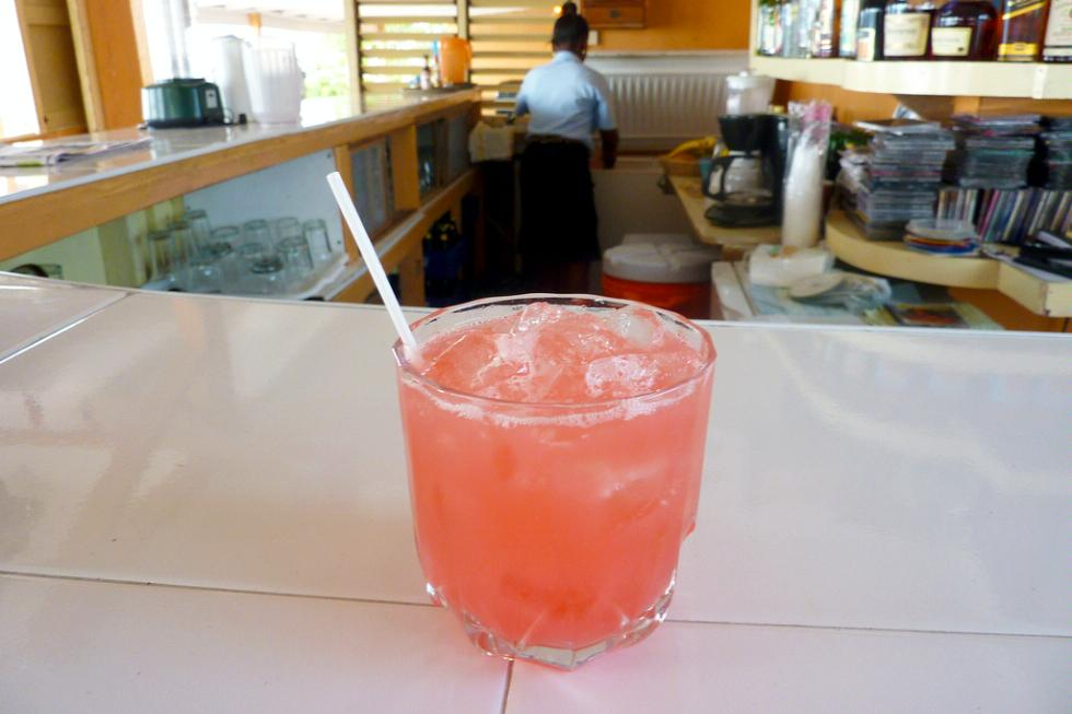 The famous rum punch at Canoe in Negril, Jamaica.
