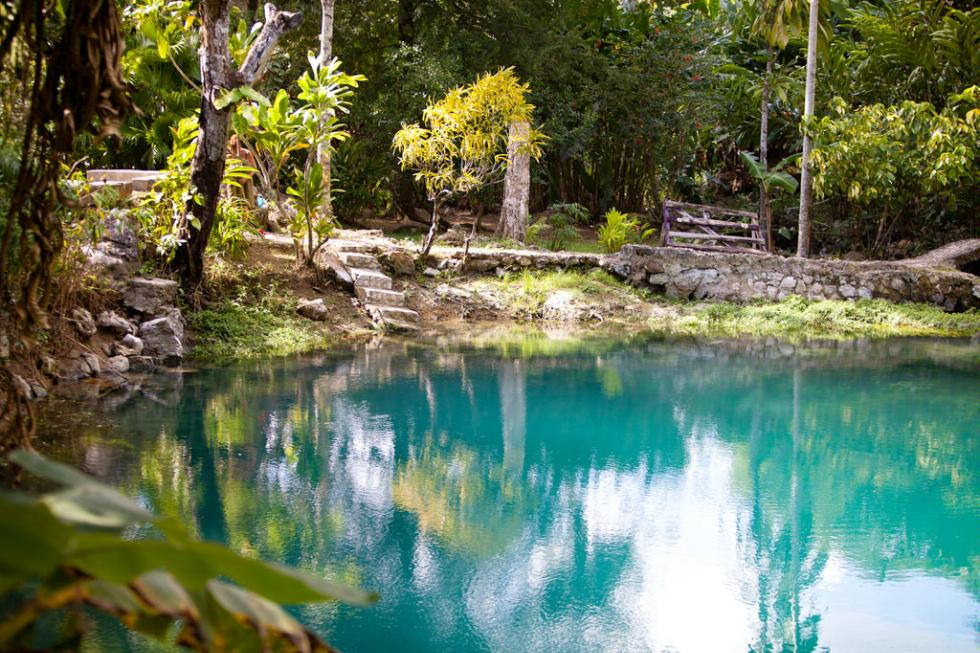 The Blue Hole Mineral Spring near Negril, Jamaica.