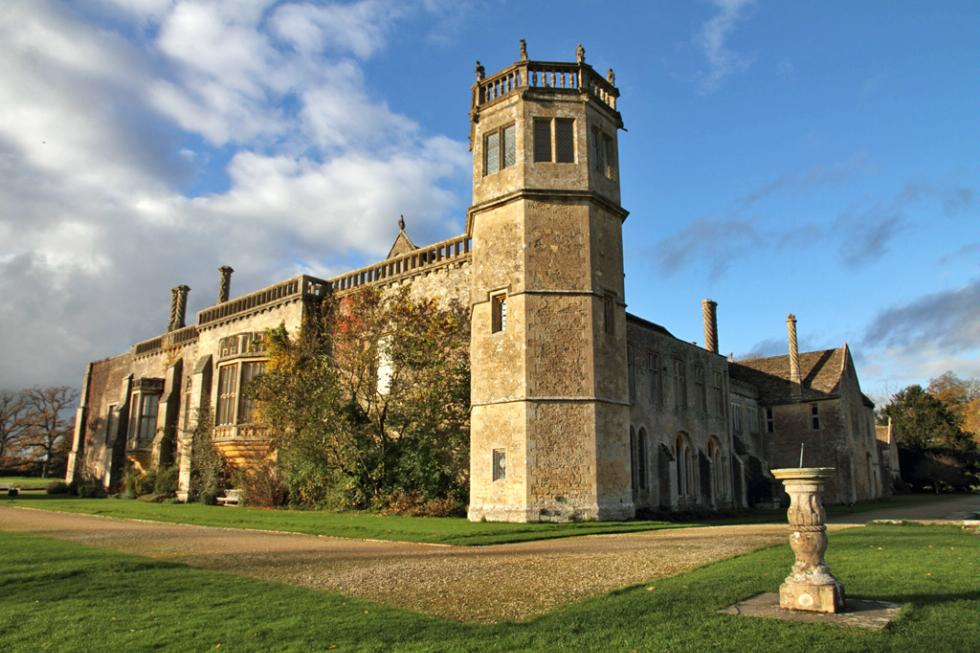 Lacock Abbey in Lacock, England.