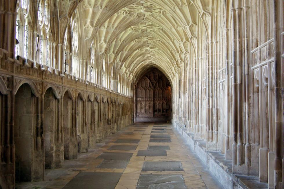 Gloucester Cathedral in Gloucester, England was used as a set in three of the Harry Potter films.