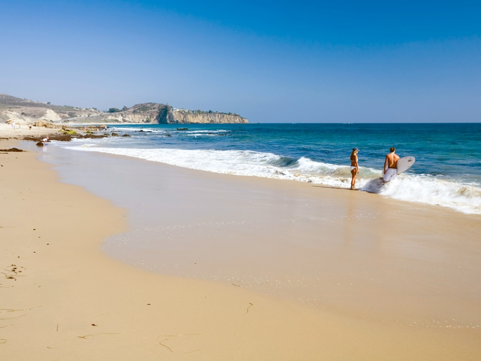 Crystal Cove State Park in Orange County, California.
