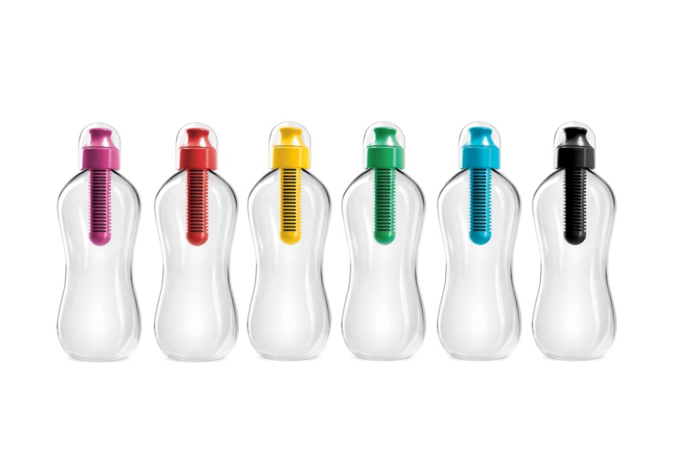 "The Bobble, $9.99 each. <a href=""http://www.waterbobble.com"" target=""_blank"">www.waterbobble.com</a>."
