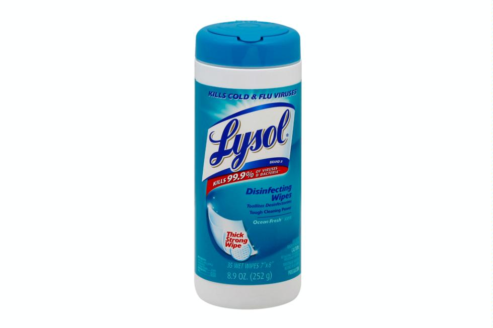 Lysol disinfecting wipes, $3.99