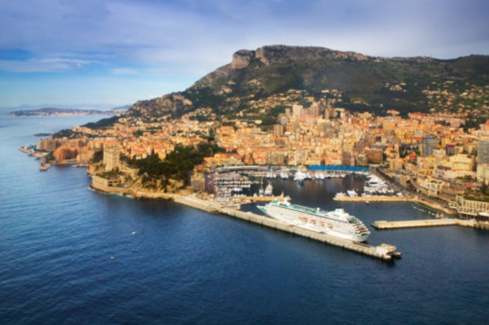 Crystal Cruises ships docked in Monte Carlo.