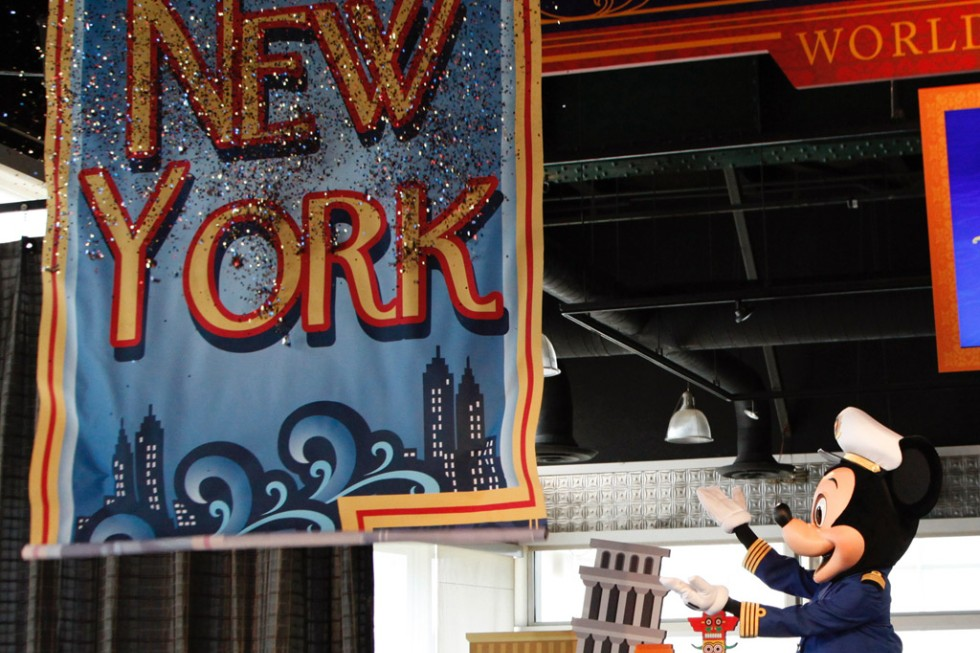 Mickey Mouse announces Disney's 2012 New York cruises.