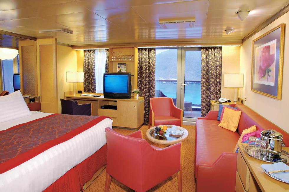 A Verandah Suite on the Oosterdam cruise ship.