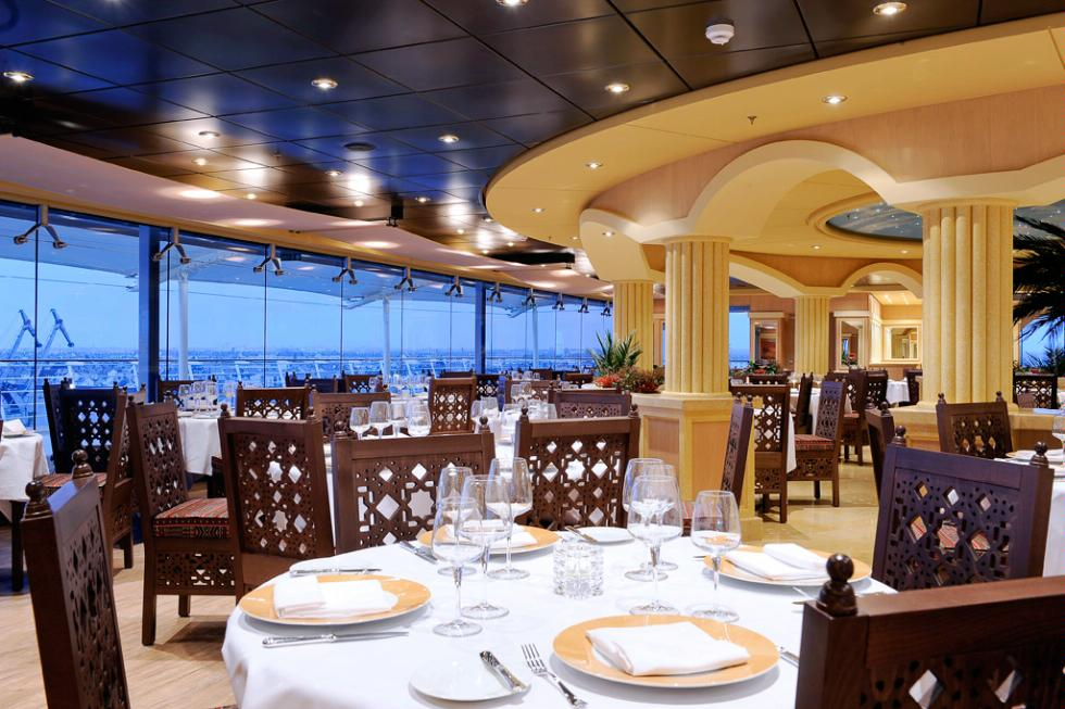 L'Oasi is the specialty restaurant aboard MSC Magnifica, which will sail the Eastern Mediterranean and Northern Europe in 2013.